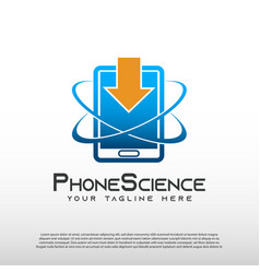 Technology logo with mobile phone concept vector
