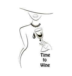 Time to wine vector