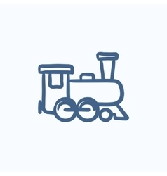 Train sketch icon vector image