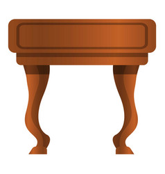 Vintage nightstand icon cartoon style vector