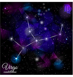 virgo constellation with triangular background vector image