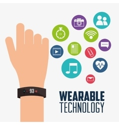 Wearable technology smartwatch device electronic vector