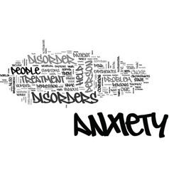 anxiety disorders in children text word cloud vector image vector image