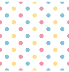 Colorful polka dot pattern in pastel colors vector image vector image