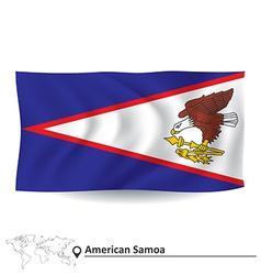 Flag of American Samoa vector image vector image
