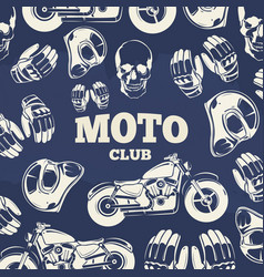 moto club grunge vintage background vector image