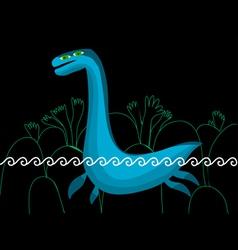 plesiosaurus in the sea vector image vector image