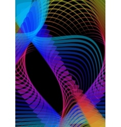 Psychedelic abstract black background with vector image vector image
