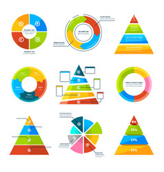 triangles pyramids and round elements for vector image