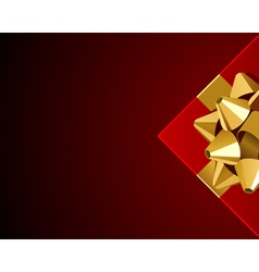 christmas present background vector image vector image