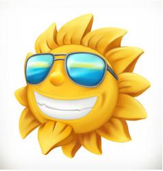 fun summer sun 3d icon vector image