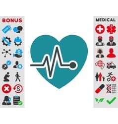 Heart Pulse Icon vector image