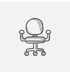 Office chair sketch icon vector image vector image