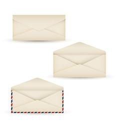 open vintage long envelope vector image