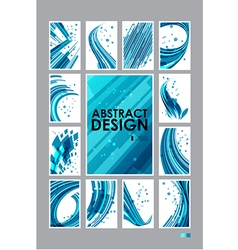 Set abstract technology background vector image vector image