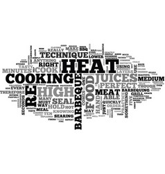 When to use high heat on your barbeque text word vector