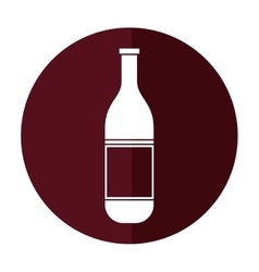 wine bottle with cork empty label shadow vector image vector image