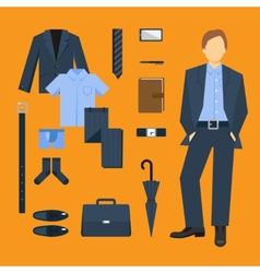 Business Man Clothes Set vector image vector image