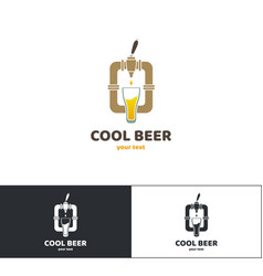 beer logo four vector image