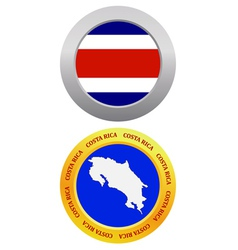 button as a symbol COSTA RICA vector image vector image