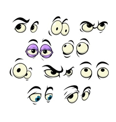 Cartoon eyes with different expressions vector image