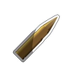isolated bullet gun vector image