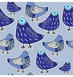 pigeon pattern vector image vector image