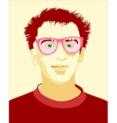 portrait guy vector image
