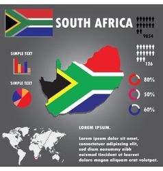 South Africa Country Infographics Template vector image vector image