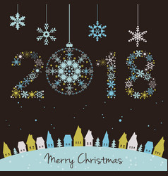 2018 new year happy holidays background with vector image