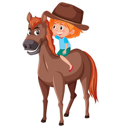 a cowgirl riding horse vector image