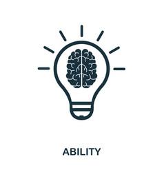 Ability icon line style icon design ui vector
