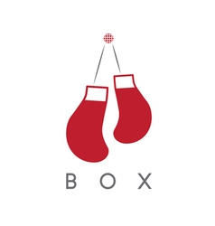 abstract icon design template of boxing gloves vector image
