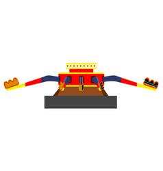 amusement park ride vector image