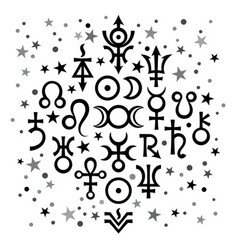Astrological set 20 astrological signs and vector