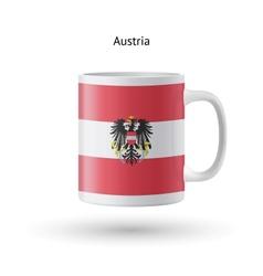 Austria flag souvenir mug on white background vector image
