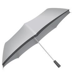 Automatic umbrella mockup realistic style vector