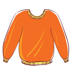 big orange sweater on white background vector image