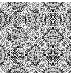 black and white hand drawn wallpaper vector image