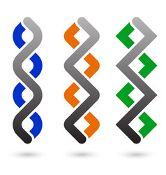 braided vertical lines vector image