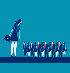 business manager looking on crowd concept vector image