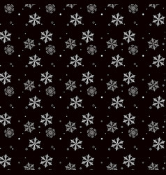 christmas seamless pattern of snowflakes gray and vector image