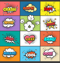 comic pow bubbles vector image
