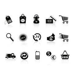 Commerce and retail icons set vector image