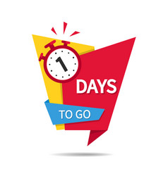 Countdown 1 day sale 3 days to go to end vector