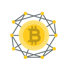 cryptocurrency icon flat design vector image