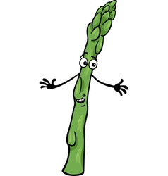 cute asparagus vegetable cartoon vector image