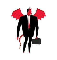 Devil businessman Satan is boss of hell Lucifer in vector image