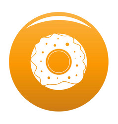 donut icon orange vector image