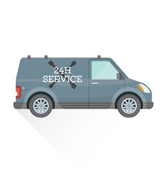 Emergency repair service car vector